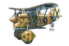 """Chirri"" by Carlos Alonso (Fiat CR 32 Joaquín García Morato, early Cartoon Plane, Cartoon Pics, Cartoon Styles, Cartoon Art, Airplane Fighter, Airplane Art, Caricature, Military Drawings, Graffiti Characters"