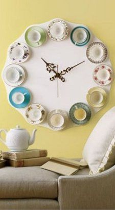 tea cup tea time clock :)