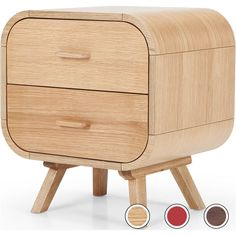 Fonteyn Bedside Table, Oak from Made.com. Light Wood. Express delivery. Keep bedroom nick-nacks stored away in this bedside cabinet. Designed with b..