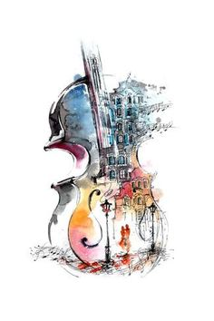 Music and the City Affiches par okalinichenko sur AllPosters.fr