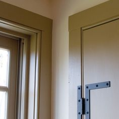 H and L Hinges for stairwell door. New England Homes, Maine House, Colonial, Lockers, Locker Storage, Windows, Doors, Cabinet, Furniture
