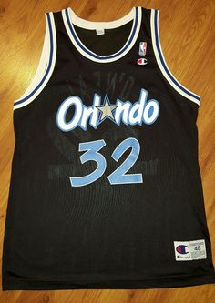 Shaquille O neil Orlando Magic Champion  NBA Jersey Men s Size 48 Euc  Vintage from  69.99 69b43af51