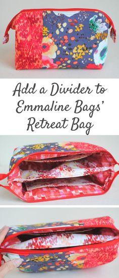 Clover & Violet — Add a Divider to Emmaline Bags' Retreat Bag {Tutorial}