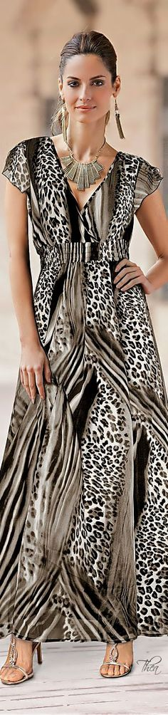 LEOPARD GOWN  |   leopard strips and prints.