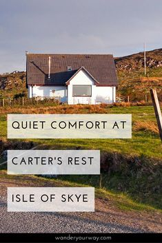The Isle of Skye is a beautiful and popular destination in Scotland. And it's not always easy to find good value in accommodation. But Carter's Rest is definitely a great value. And the location is stunning! Click through to find out more!