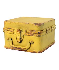 Antique Yellow Large Box | zulily