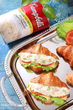 早餐食譜,三明治食譜-蛤蠣巧達馬鈴薯沙拉三明治