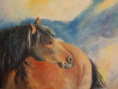 """The-Wild-One_2 by Nancee Jean Busse Acrylic ~ 18"""" x 24""""Original Equine Painting """"THE-WILD-ONE-2"""" by Colorado Artist Nancee Jean Busse, Painter of the American West"""