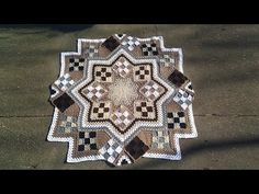 Blue Star afghan Free Pattern - YouTube