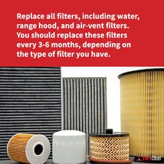 Out of sight, out of mind? Make sure you check and clean your filters regularly to keep your appliances performing at their best! House Cleaning Tips, Cleaning Hacks, Air Vent, Clean House, Filters, Appliances, Check, How To Make, Home Decor