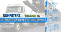 Pittsboro, NC at EasyDumpsterRental Dumpster Rental in Pittsboro, NC Get Tremendous Service & The Lowest Container Rates How We Provide Nifty Roll Off Service In Pittsboro: We take customer serviceto a whole new level. Our front office team is well trained and are super pleasant to work with. They actuallydesire that you h... https://easydumpsterrental.com/north-carolina/dumpster-rental-pittsboro-nc/