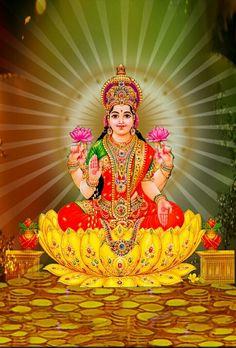 In ancient scriptures of India, all women are declared to be embodiments of Lakshmi Lakshmi hindu art Lakshmi wealth Lakshmi goddesses Lakshmi haram Lakshmi tanjore painting Lakshmi vaddanam Lakshmi bangle Lakshmi decoration Lakshmi necklace Kali Hindu, Hindu Art, Lord Ganesha, Lord Shiva, All God Images, Señor Krishna, Bhagavata Purana, Lakshmi Images, Rangoli Ideas