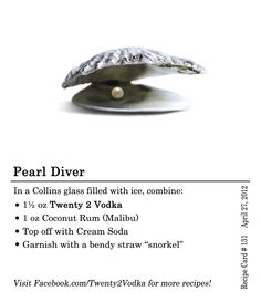 Pearl Diver cocktail.