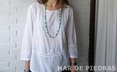 Collar de nudos con perlas cultivadas por MardePiedras en Etsy
