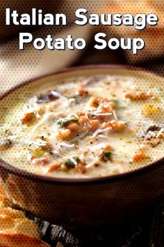 Creamy Italian Sausage And Potato Soup – MiamyamYou can find Italian sausage soup and more on our website.Creamy Italian Sausage And Potato Soup – Miamyam Sausage Potato Soup, Italian Sausage Recipes, Italian Sausage Sandwich, Sausage Stew, Potato Rice, Italian Appetizers, Ground Sausage, Homemade Soup, Easy Cooking