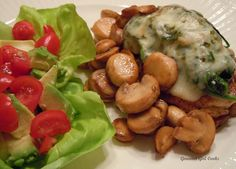 Gourmet Girl Cooks: Saturday's Simple Chicken, Spinach & Cheese Melt