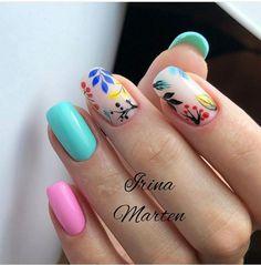 Nail Art Designs and Colors for Summer Shellac Nails, Nail Manicure, Nail Polish, Cute Nails, Pretty Nails, Hair And Nails, My Nails, Dream Nails, Square Nails