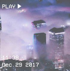 M O O N V E I N S 1 0 1 #vhs #aesthetic #purple #clouds #city