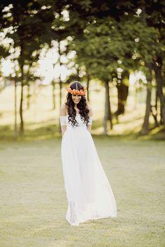 Boho lace wedding dress magical soft dreamy by Graceloveslace, $990.00