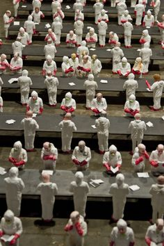 """Isaac Cordal's""""The School."""" Artist Isaac Cordal(Previously on..."""