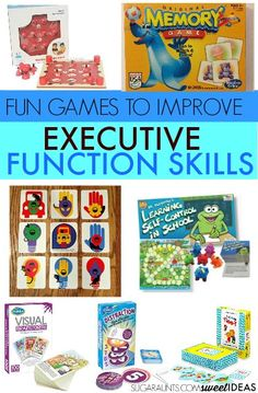 to Help Kids Improve Executive Functioning Skills - The OT Toolbox These games are fun ways to help kids improve executive function skills.These games are fun ways to help kids improve executive function skills. Working Memory, Memory Games For Kids, School Social Work, Executive Functioning, Study Skills, Life Skills, Building For Kids, Therapy Activities, Language Activities