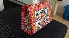 Paper Bag Jeans, Paper Weaving, Candy Wrappers, Leather Flowers, Candy Bags, Leather Bag, Recycling, Wraps, Purses