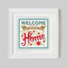 Welcome to our Home Brights Cross Stitch Pattern par Stitchrovia