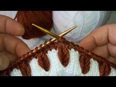 Bu model harika buğday başağı süper kolay kazak,yelek, süveter,şapka modeli - YouTube Knitting Stiches, Baby Knitting Patterns, Crochet Stitches, Stitch Patterns, Hair Accessories, Diy, Knitting For Beginners, Knitting For Kids, Knitting Patterns