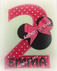 Mickey Minnie Mouse Birthday Number by RioBren on Etsy. $12.00, via Etsy.