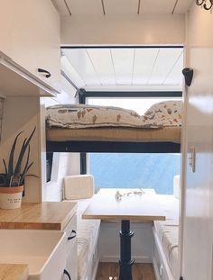 Van Conversion Layout, Van Conversion Interior, Sprinter Van Conversion, Camper Van Conversion Diy, Van Conversion For Family, Motorhome, Camper Furniture, Camper Beds, Camper Diy