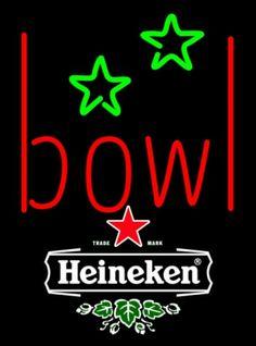 Heineken Bowling Alley Neon Sign