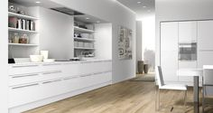 Plan doorstyle finished in Laccato Lucido Bianco Calce  http://archinteriors.co.nz