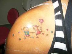 Resultado de imagem para tattoo boneca palito com nome