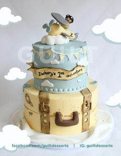 Vintage Travelling Plane - Cake by guiltdesserts
