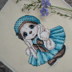 "Finished work by pattern ""Bunny Karina"" #sa_stitch #sa_pattern #pattern #crossstitch #bunny"