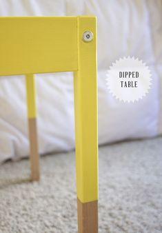 swoon studio: Ikea hack: dipped children's table