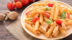 Penne Chicken With Tomatoes