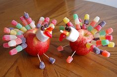 Apple Turkeys for kids crafts plus fun to eat.