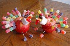 Apple Turkeys | One Artsy Mama