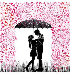 Illustration of Kissing couple heart rain Man and woman in love Valentine day background Young people under umbrella Isolated on white vector art, clipart and stock vectors. Valentines Day Drawing, Valentines Day Background, Love Valentines, Rain Painting, Love Painting, Watercolor Paintings, Painting Wallpaper, Acrylic Paintings, Couple Sketch