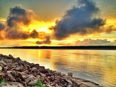 Stormy sunset from the banks of the Mississippi River - near Catfish Point - Mississippi Delta - Order prints from www.flatoutdelta.com -  © 2013 John Montfort Jones