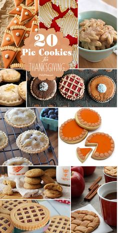 20 Pie Cookie recipes for #Thanksgiving at TidyMom.net