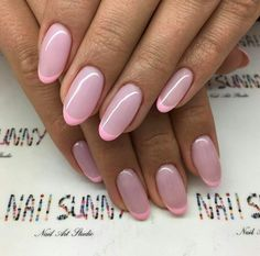 Beautifully Nail Art Colors for 2017 beauty nails & hair Funky Nails, Cute Nails, Pretty Nails, My Nails, Blush Pink Nails, Pastel Nails, Acrylic Nails, Coffin Nails, Pink Tip Nails