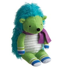This perky Cecil Hedgehog mini plush stuffed animal makes a fun and convenient, travel friendly pal for any child. From Monkeez & FRIENDS, the lime green nocturnal mammal has a soft, ribbed polyester