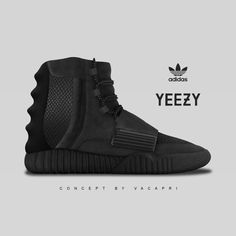 Midnight Black Adidas Yeezy Boost (vacapri concept)