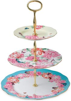 Royal Albert Cake Stand #ad #royalalbert #kitchens #dinnerware #cake #cakestand #3tierstand #floral