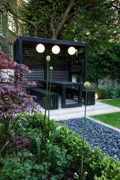 Browse images of modern Garden designs: Pergola. Find the best photos for ideas & inspiration to create your perfect home. garden inspiration Pergola modern garden by earth designs modern solid wood multicolored Modern Japanese Garden, Modern Garden Design, Backyard Garden Design, Backyard Landscaping, Modern Garden Furniture, Japanese Gardens, Rectangle Garden Design, Japanese Garden Backyard, Balcony Furniture