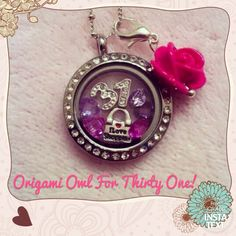 """Thirty-one gifts inspired locket. Kind of """"me"""" . Thirty-One and Origami Owl . Thirty-One in Origami Owl! Origami Owl Necklace, Origami Owl Charms, Origami Owl Lockets, Origami Owl Jewelry, Locket Bracelet, Locket Charms, Necklace Charm, Charm Bracelets, Charm Jewelry"""