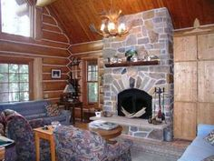 Stunning Fireplace at Eagle River Home on Snipe Lake
