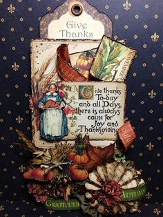 Happy Thanksgiving Day! tag from Tati Scrap using Place in Time #graphic45 #tags #thanksgiving